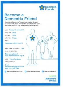 Become a Dementia friend sessions at Halesowen library
