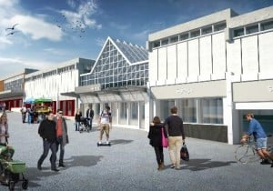 Image shows the artist impression of The Cornbow redevelopment on Hagley Mall.